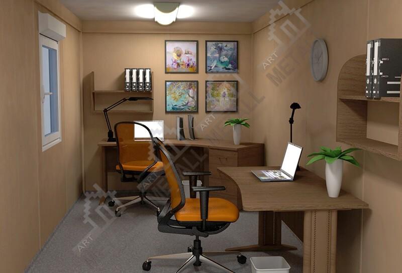 Интерьер модульного мини-офиса