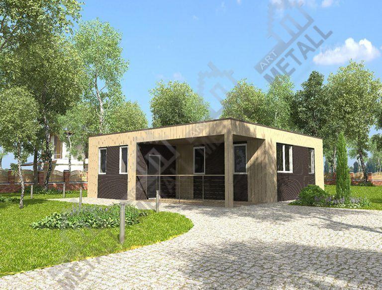 Проект жилого дома 62м2