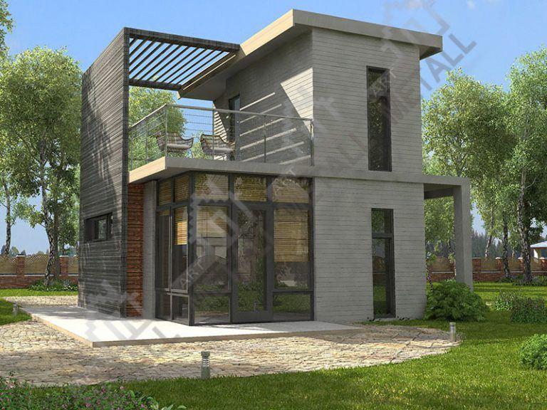 Проект жилого дома 62м2 (№2)