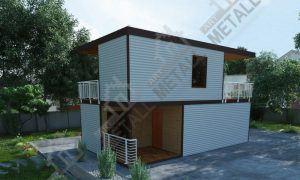 Проект жилого дома 60м2 №2