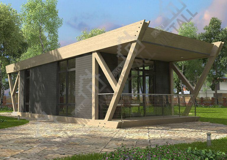 Проект жилого дома 45м2 (№2)