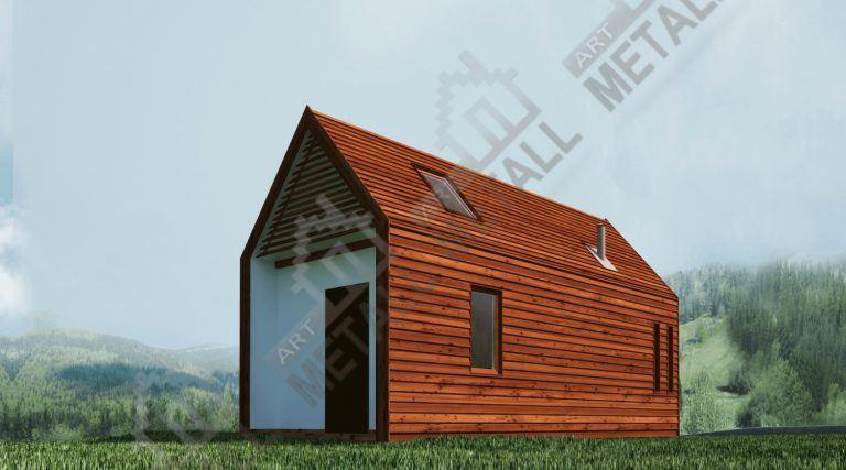 Проект жилого дома 18м2