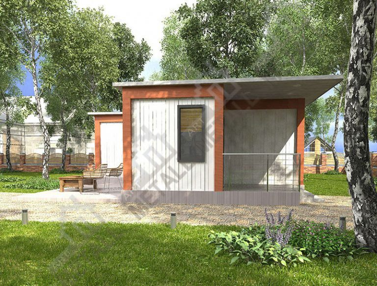 Проект жилого дома 45м2 (№3)
