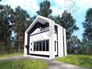 Проект жилого дома 68 м2