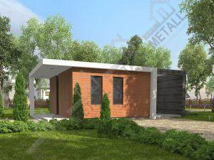 Проект жилого дома 40м2