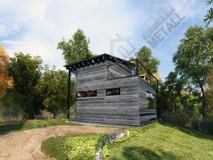 Проект жилого дома 64.5 м2