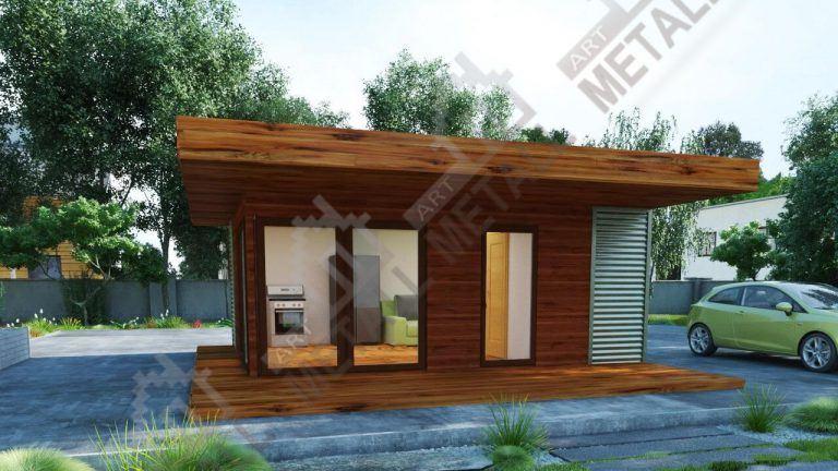 Проект жилого дома 30м2 №2
