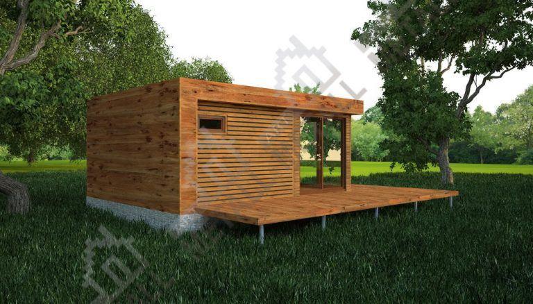 Проект жилого дома 30м2