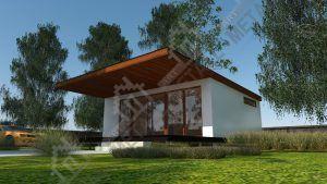 Проект жилого дома 45м2