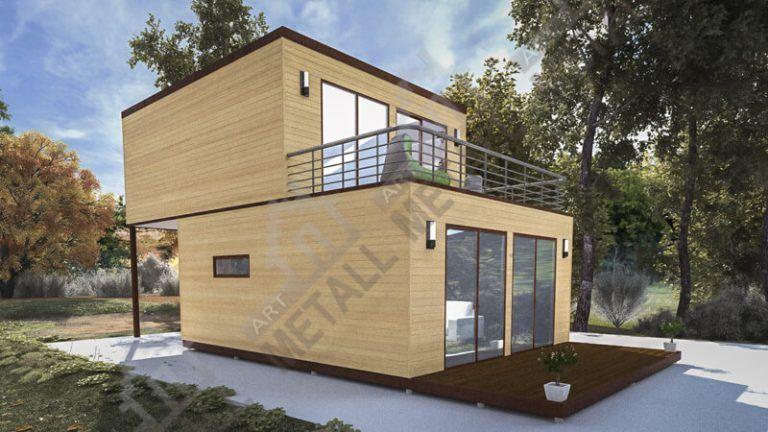 Проект жилого дома 60м2